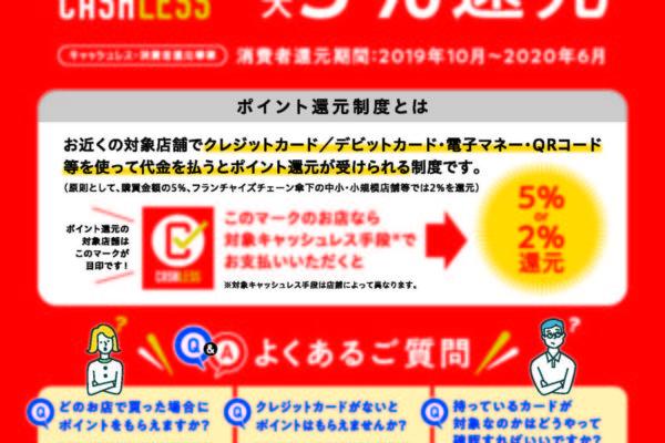 キャッシュレス還元5% リフォーム工事代でも使えてお得!!