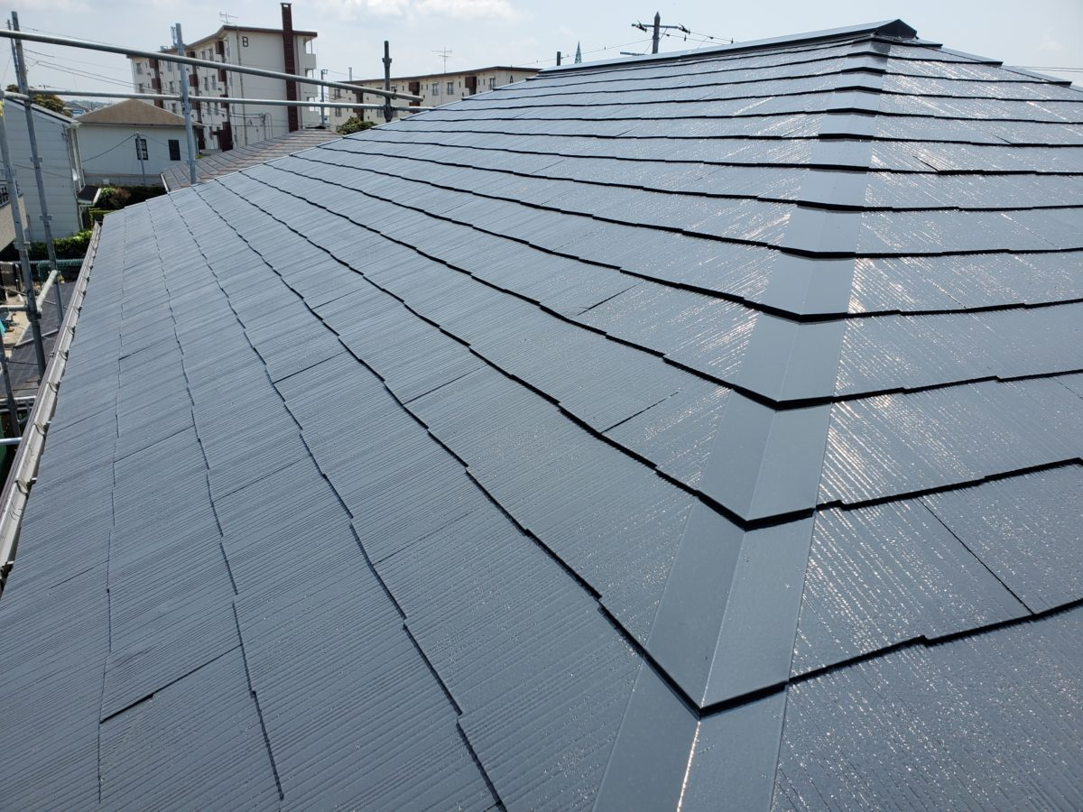 千葉県木更津市 屋根塗装 上塗り コロニアル 無料見積もり