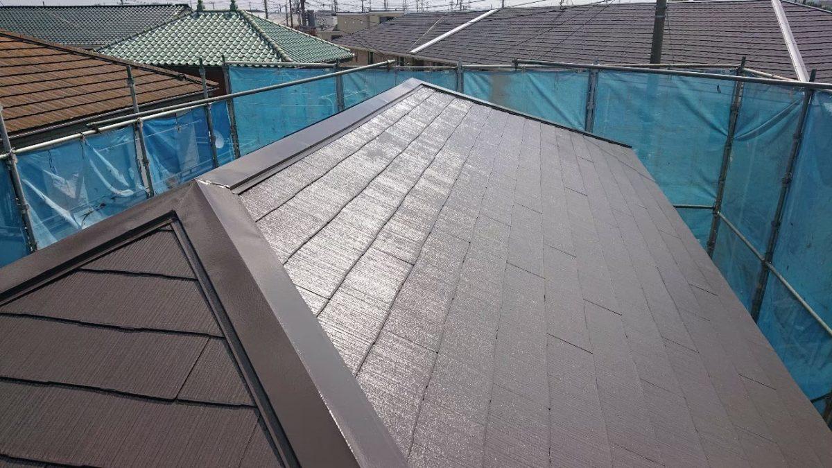 千葉県市原市 屋根塗装 上塗り工事 ラジカル塗料 タスペーサー 無料見積もり