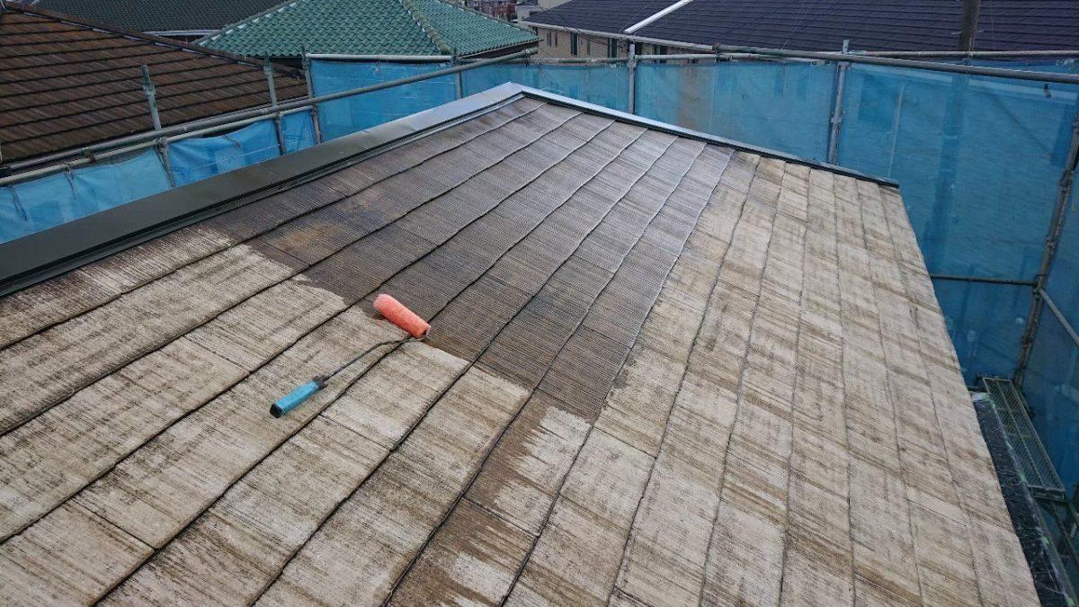 千葉県市原市 屋根塗装 下塗り工事 タスペーサー 無料見積もり